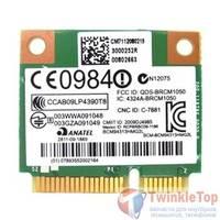 Модуль Wi-Fi 802.11b/g/n Half Mini PCI-E - Broadcom BCM94313HMG2L