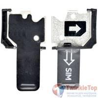 Лоток, держатель Sim Nokia Lumia 620 черный