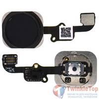 Шлейф / плата Apple iPhone 6 на кнопку HOME / черный