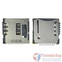 Разъем Micro-Sim+MicroSD 17-18mm x 16-17mm x 2,7mm Samsung E2202