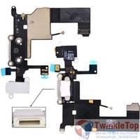 Шлейф / плата Apple Iphone 5 821-1417-A на системный разъем / белый