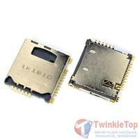 Разъем Micro-Sim+MicroSD 17-18mm x 16-17mm x 2,7mm Samsung GALAXY S II (GT-I9100)