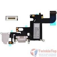 Шлейф / плата Apple iPhone 6 821-1853-A на системный разъем / белый