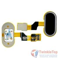 Шлейф / плата Meizu M3s mini на кнопку HOME / черный