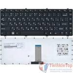 Клавиатура для Lenovo IdeaPad Y470 черная с черной рамкой