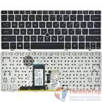 Клавиатура для HP EliteBook 2560p черная с серой рамкой Английская раскладка