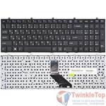 Клавиатура для Clevo W370ET черная с черной рамкой