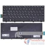 Клавиатура для Dell Inspiron 14 (3441) черная с черной рамкой