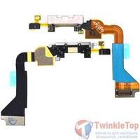 Шлейф / плата Apple Iphone 4 821-1093-A на системный разъем / белый
