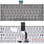 Клавиатура для Acer Aspire S3-371 серая без рамки