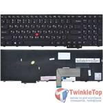 Клавиатура для Lenovo ThinkPad Edge E540 черная с черной рамкой (Управление мышью)