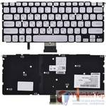 Клавиатура для Dell XPS 15z (L511z) серебристая без рамки с подсветкой